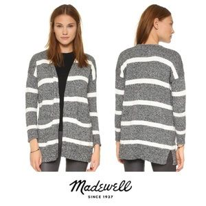 Madewell Charlie Striped Open Cardigan